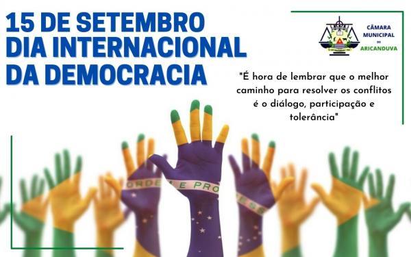 DIA DA DEMOCRACIA É COMEMORADO NESTA TERÇA